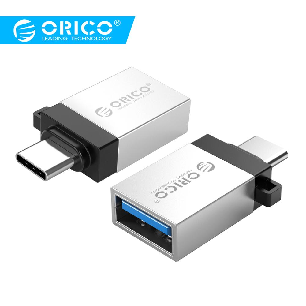 ORICO Type C Male To USB3.0 Female Convertor With OTG Function USB3.0 5Gpbs Transmission Rate Lanyard Design For Phone Tablet