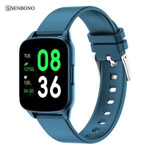 Image 1 - SENBONO KW17 pasek do smarwatcha mężczyźni kobiety zegarek sportowy pulsometr pomiar podczas snu Smartwatch tracker dla IOS Android