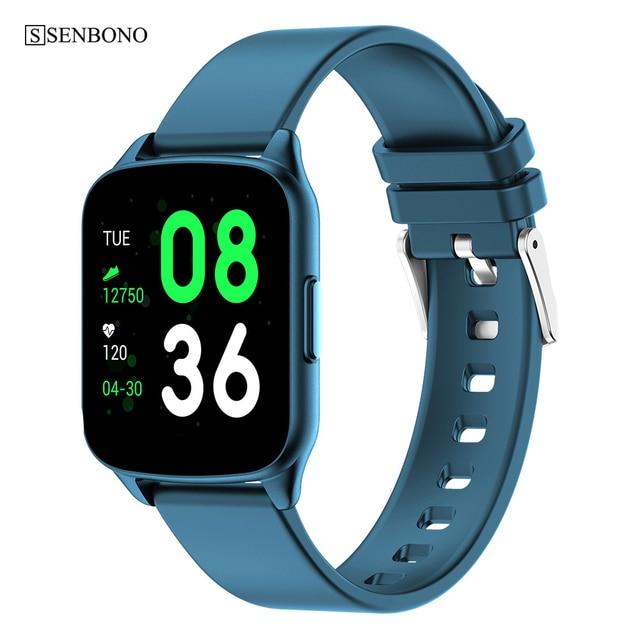 SENBONO KW17 pasek do smarwatcha mężczyźni kobiety zegarek sportowy pulsometr pomiar podczas snu Smartwatch tracker dla IOS Android