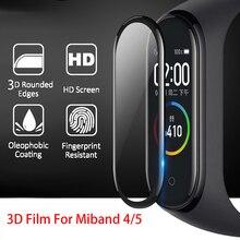 3D Защита экрана для xiaomi mi band 4 5, защитное мягкое стекло Miband 5, полная изогнутая Защита краев, устойчивая к царапинам пленка для miband 6 5