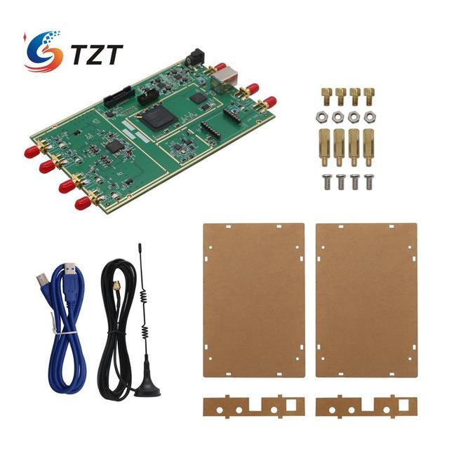 TZT 70MHz 6GHz 10DBM البرمجيات تعريف راديو B210 SDR مجلس الاكريليك قذيفة متوافق مع USB3.0 متوافق مع USRP B210