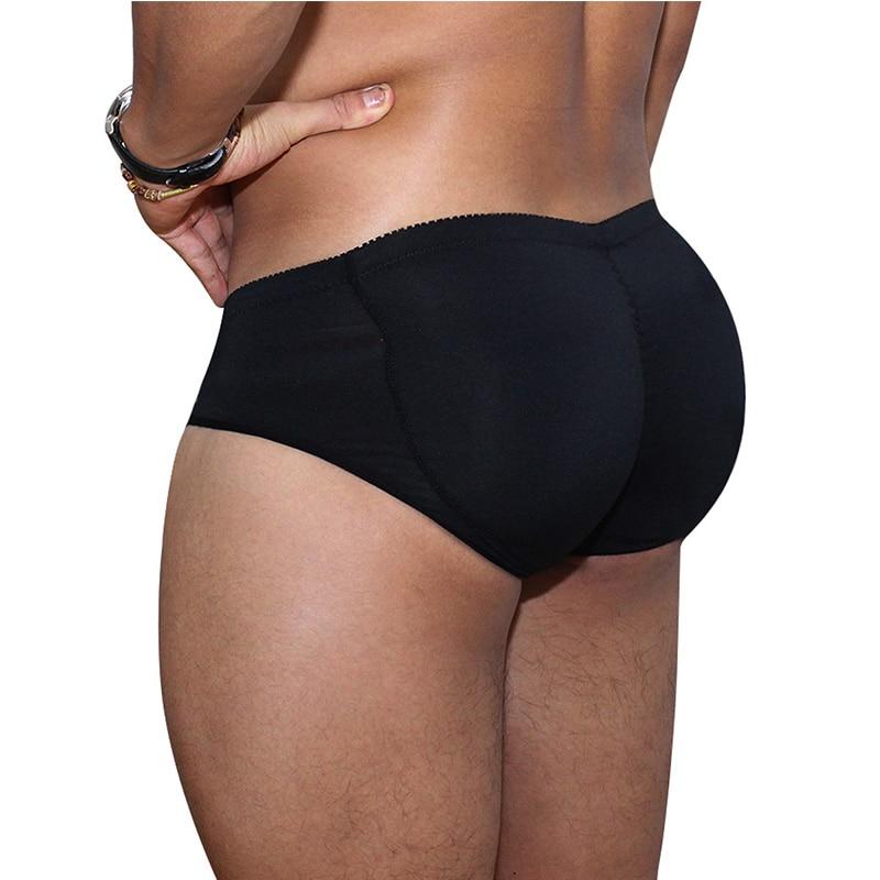 Men's Padded Underwear Lifting Butt Men's Underwear Panties Strengthening Sexy Highlights Front + Back Hips Fake Ass Body Shaper