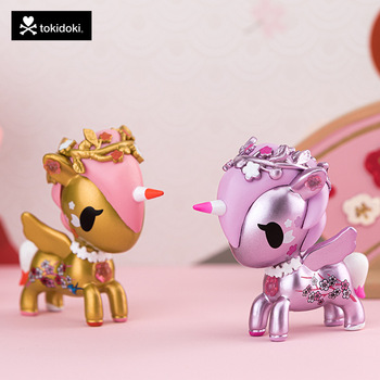 Special Offer Unicorn Blind Box Tokidoki Cherry Blossoms Series Cute Doll Action Toy Figures Mystery Gift