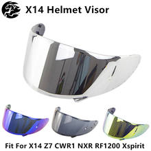 X14 Helmet Motorcycle Visor Full Face Helmet Visor Lens Parts Windshield Helmets Shield Moto Visor Motorcycle Helmet Accessories(China)
