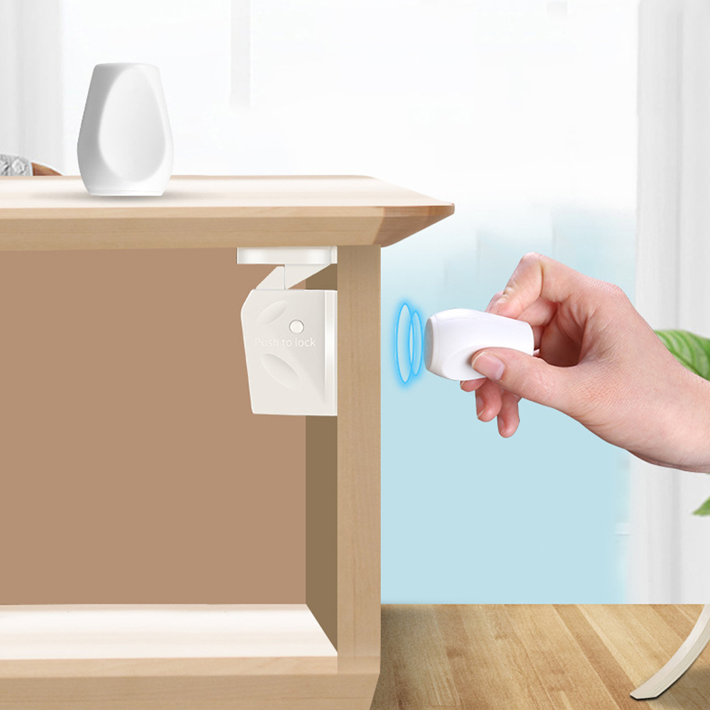 Portable Invisible Security Drawer Easy Install Cupboard Multifunction Protection Magnetic Door Safety Lock White Home Children