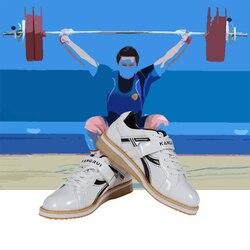 Unisex Kangrui Hohe qualität Professionelle Gewichtheben Schuhe Hocken Training Leder Anti Slip Beständig Gewicht hebe Schuhe