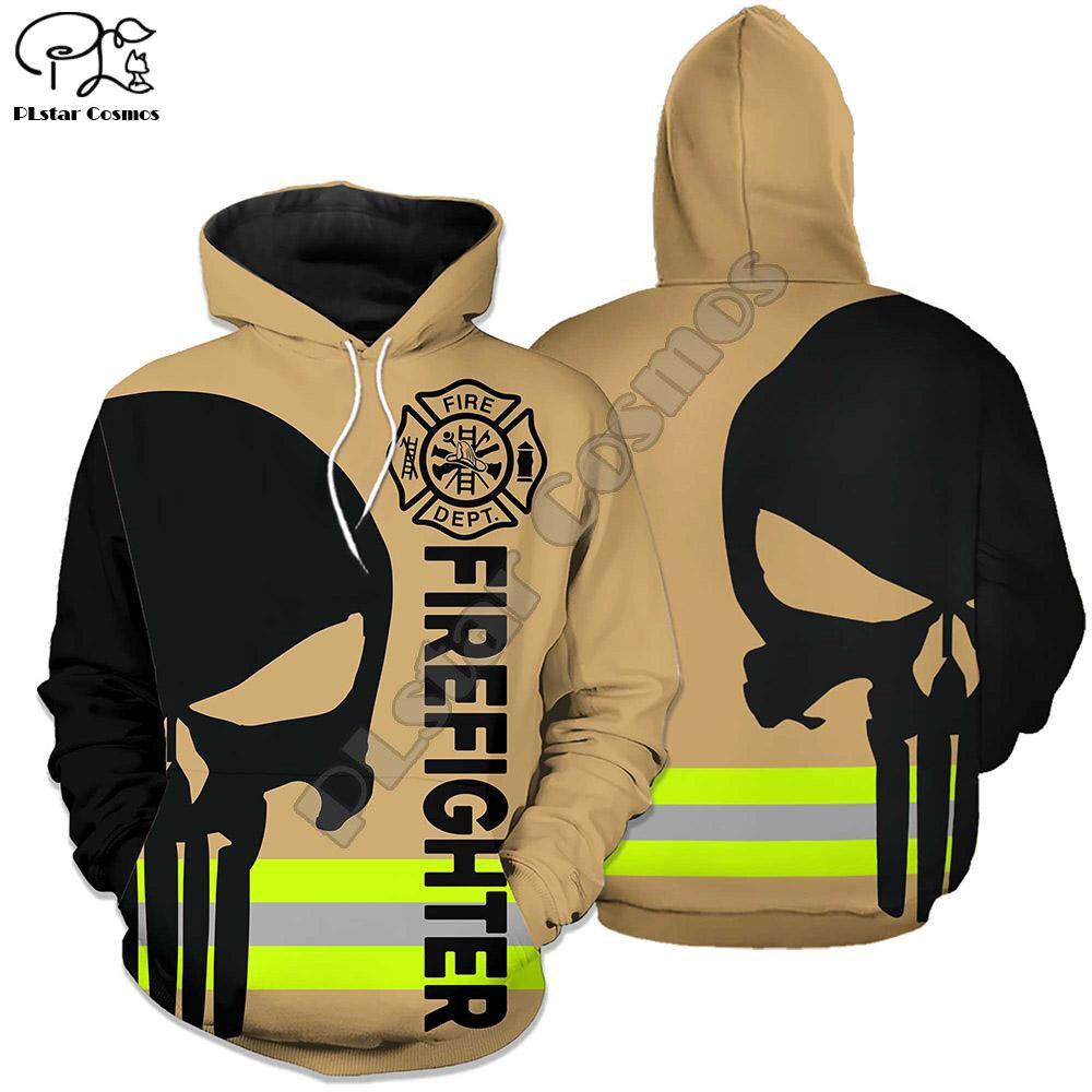 New Men Women I Am A Firefighter Print 3D Hoodies Funny Fireman Sweatshirt Fashion Cosplay Skull Hooded Long Sleeve Zipper Pullover Tshirt Tee 26
