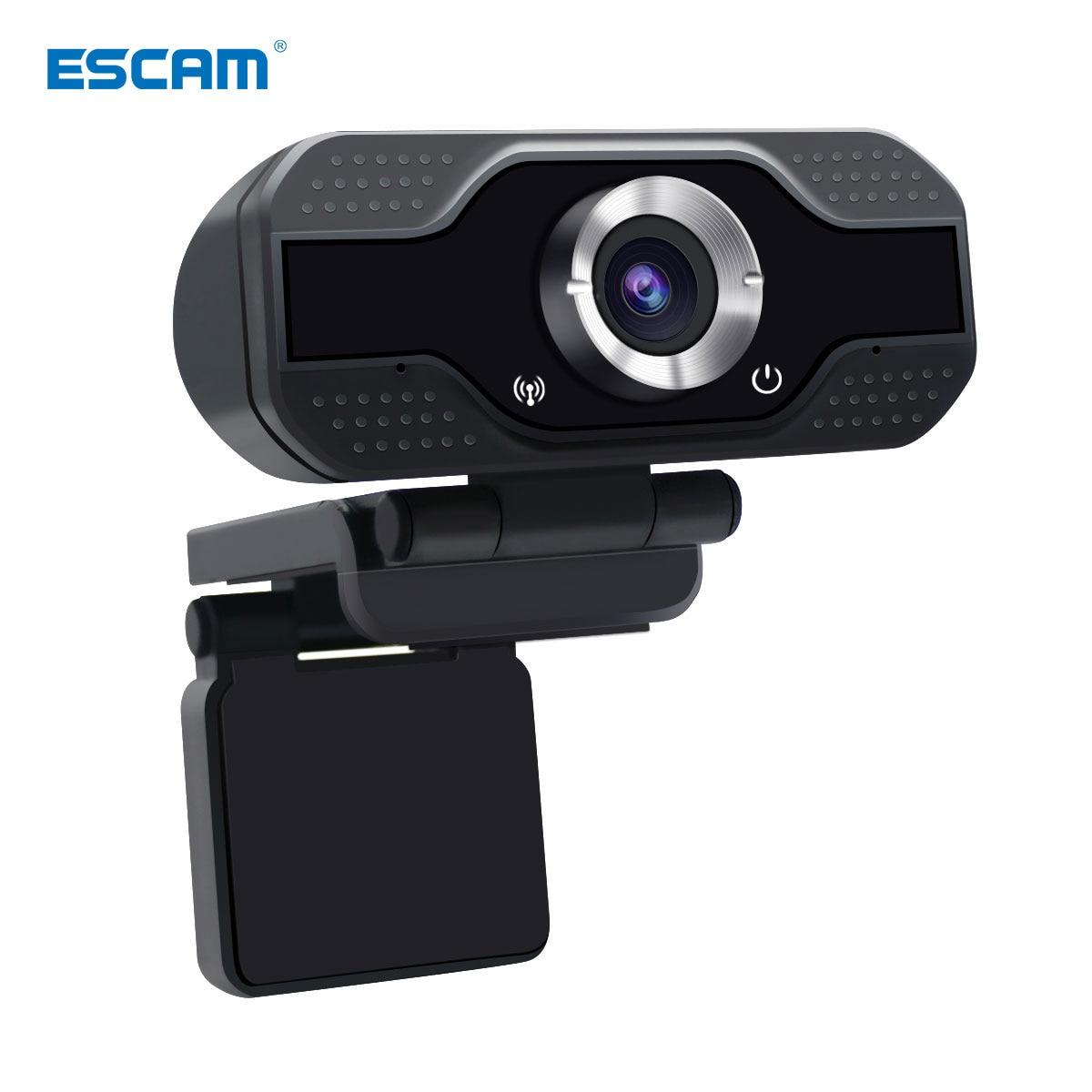 ESCAM PVR006 1080p 2MP H.264 Portable Mini Webcam HD 1080p Web PC Camera Convenient Live Broadcast with Microphone Digital