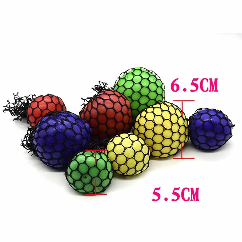 Kebaruan Lucu Meremas Bola Lucu Menghilangkan Stres Bola Tangan Pergelangan Tangan Latihan Anti-Stres Lendir Grape Bola Mainan Lucu Gadget mainan Hadiah