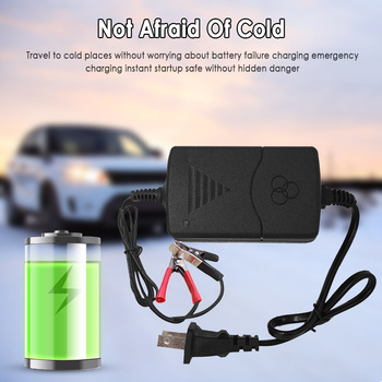 EU/US Plug Portable Car Battery Charger 12V 1.3A Sealed Lead Acid Smart Battery Charger For Car Motorcycle Battery Truck Charger image