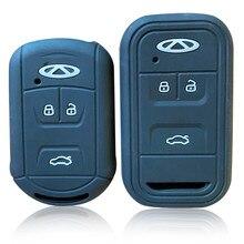 Силиконовый чехол для автомобильного ключа Chery Tiggo 4 7 8 Arrizo, набор умных держателей для ключа с дистанционным управлением, чехол с 3 кнопками, ...