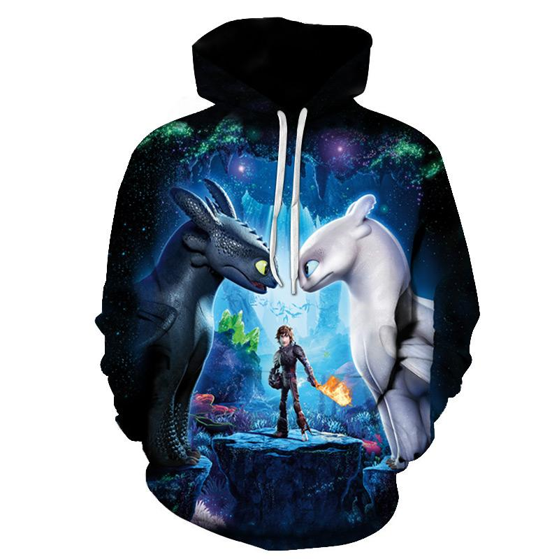 How To Train Your 3D Dragon Printed Hoodies Women / Men Fashion Hoodies 2019 Hot Sale Casual Custom Street Clothes