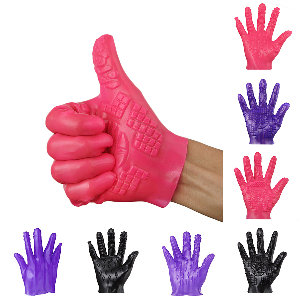 5-Finger Masturbation Gloves Unisex Erotic Massage Flirting Adult Sex Toy For Men Women Flirting Masturbator Juguetes Sexuales