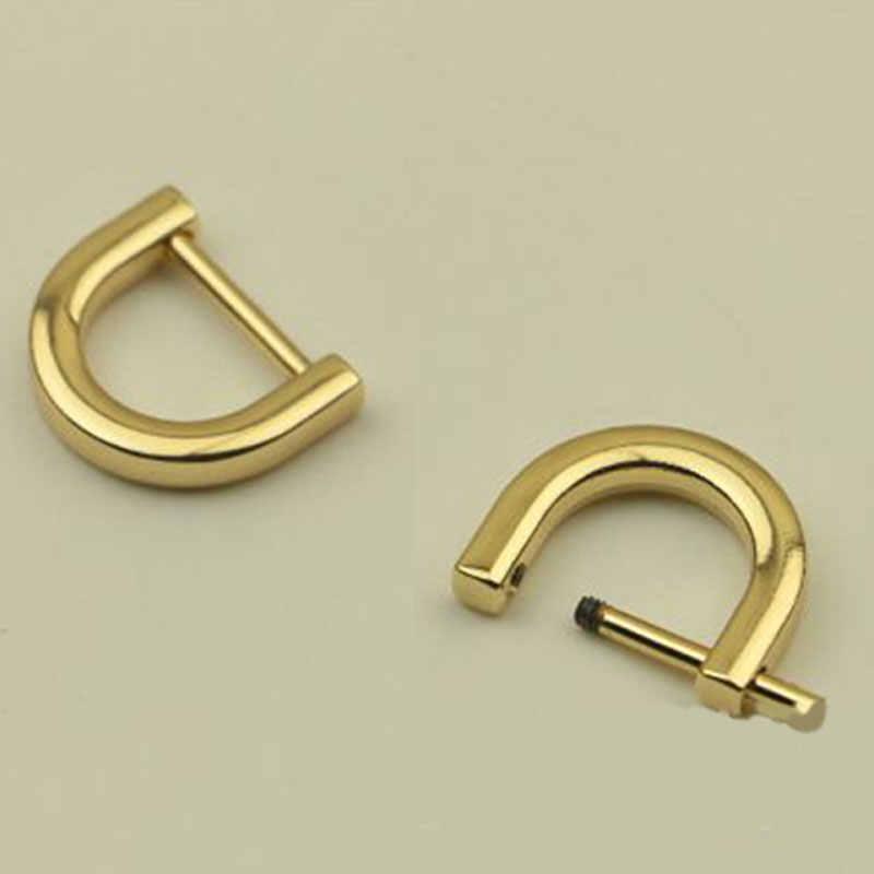 1.2/1.5 cm 1 pc metal destacável aberto parafuso fecho saco cinta cinto d anel fivela diy acessório saco de metal hange bolsa anel