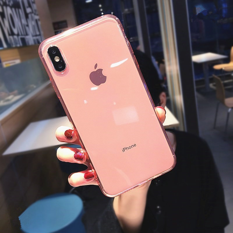 Luxury Clear Silicone Case For Iphone 7 8 6 6s Plus 8Plus Transparent Phone Case O IPhone X XS MAX XR 10 11 Funda Soft TPU Cover