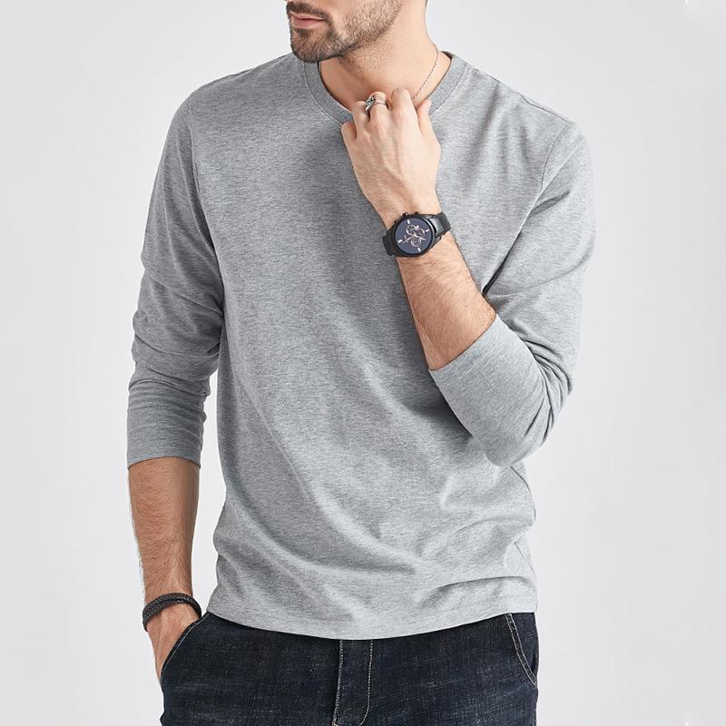 Long Sleeve T Shirts Men Women 100% Cotton Summer Short Tees Solid Basic Soft Male Female Tshirt Slim Fit Plain Tee Shirt Autumn