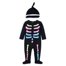 Elvesnest Cotton Long Sleeve Baby Boys Clothes Novelty Halloween Baby Rompers+Hat Spring Autumn Newborn Baby Girl Clothes(China)