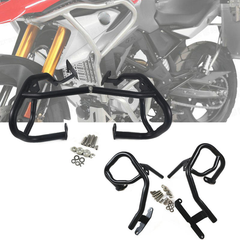 For <font><b>BMW</b></font> G310GS <font><b>G310R</b></font> G310 2017 2018 Motorcycle Upper Lower Engine Tank Guard Crash Bar Bumpers Stunt Cage Decor Block Protection image