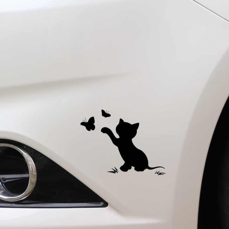 Pegatinas de gato para coche, envoltura divertida de vinilo bonito para coches, ventana, decoración corporal para cubrir arañazos, accesorios de motocicleta