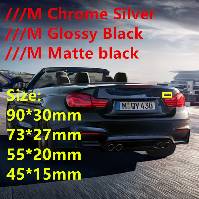 M Sport Power Emblems Stickers Badges Wing Side Car Styling Trunk Logo Letters for BMW M F10 F30 M3 M5 E36 E46 E90 Black white image