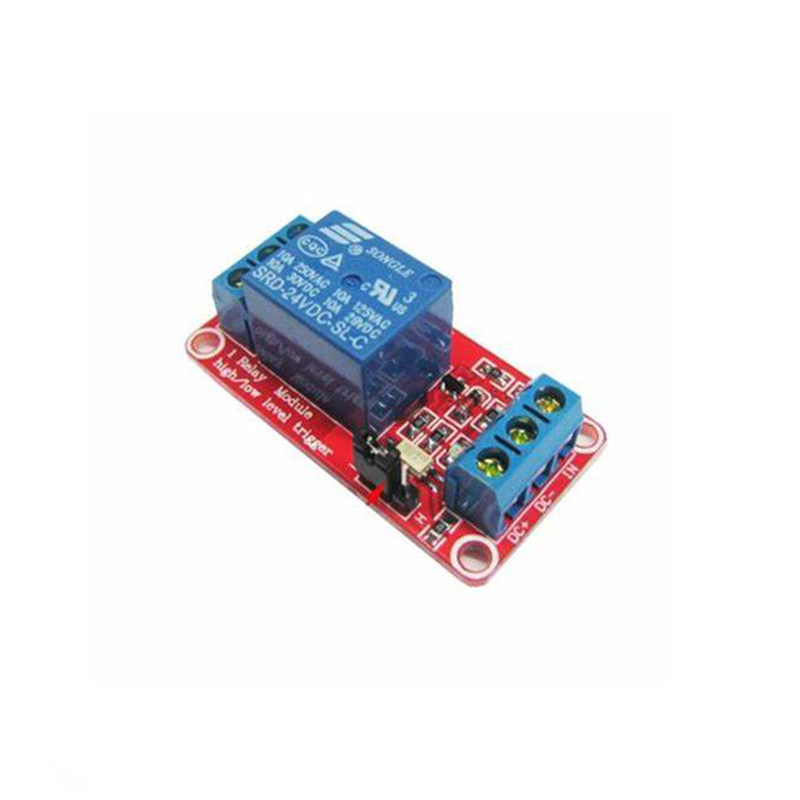 DC 5V/12V/24V 1 channel Relay module low level trigger relay control with optocoupler 12 V relay one Road Relays 5 V 24V image