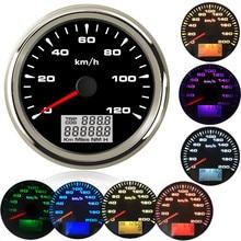 Одометры скорости для лодки и автомобиля, измеритель скорости с ЖК-дисплеем, подсветкой 7 цветов, для BMW e60, e46, 85 мм, 9 ~ 32 В