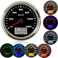 85mm boat car gps speedometer Car Marine Boat GPS Speed Odometers LCD Display Gauge 9~32V with 7colors Backlight for BMW e60 e46