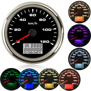 85mm boat car gps speedometer Car Marine Boat GPS Speed Odometers LCD Display Gauge 9~32V with 7colors Backlight for BMW e60 e46 black 60mm gps digital speedometer 12v 24v odometer gauge car motorcycle atv marine boat truck
