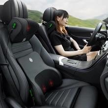JINSERTA 자동차 마사지 목 지원 베개 좌석 뒤로 지원 머리 받침 베개 시뮬레이션 인간의 마사지 여행 베개 액세서리