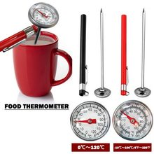 1Pc Voedsel Thermometer Keuken Rvs Oven Koken Bbq Probe Thermometer Voedsel Vlees Melk Gauge 110 Celsius Keuken Tool(China)