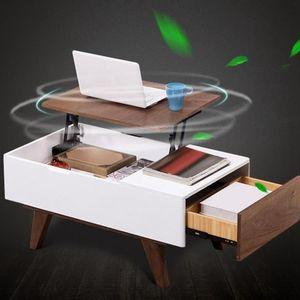 Image 3 - Les meubles se pliants de charnière de Table de thé de ressort soulèvent létagère de support de levage de matériel de mécanisme supérieur pour la table dordinateur de café