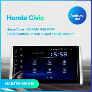 "Image 2 - Dasaita 10.2 ""IPS ekran araba multimedya Android 10.0 Toyota RAV4 radyo 2018 2019 TDA7850 GPS Bluetooth HDMI araba stereo MAX10"