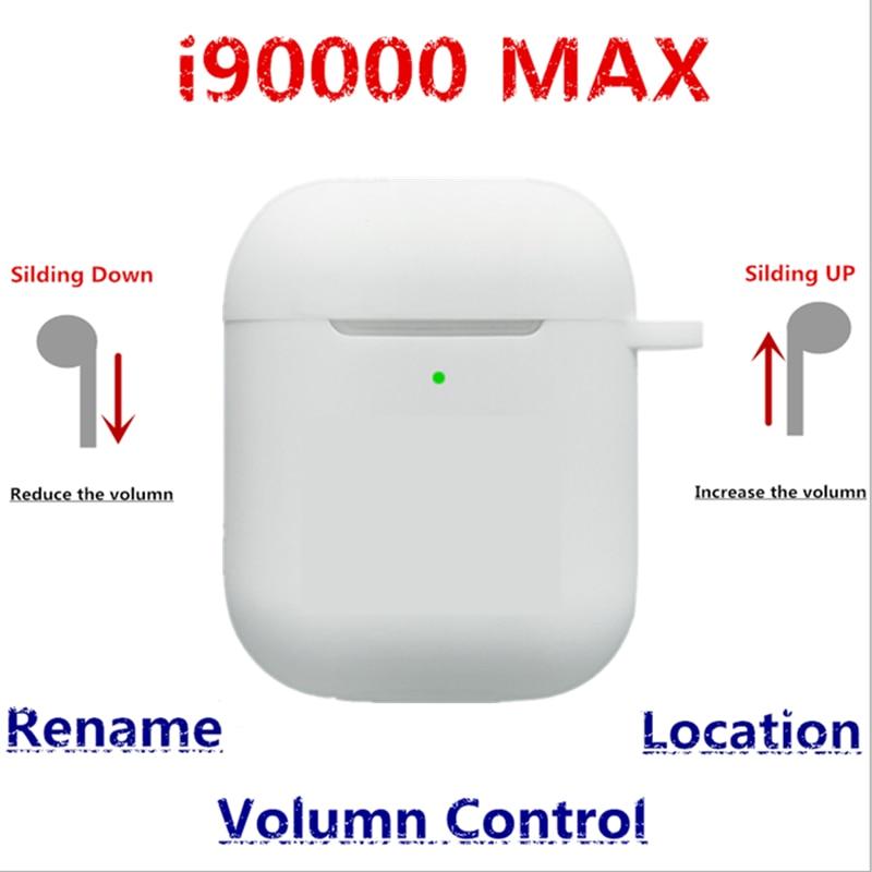 I90000 Max TWS Volumn Control + Umbenennen + Position Aire 2nd 1536u Chip Drahtlose Bluetooth Kopfhörer Surer Bass vs W1 chip H1 Chip