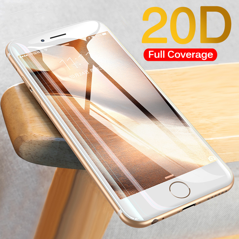 Protective-Glass Screen-Protector Full-Cover 8-Plus Glass IPhone 7 20D For 6 6S The X