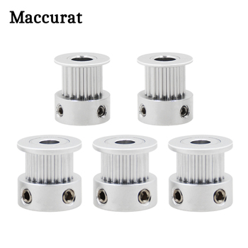 3D Printer Parts GT2 Timing Pulley 16 Tooth 2GT 20 Teeth Aluminum Bore 5mm 8mm Synchronous Wheels Gear Part For Width 6mm 10mm mimaki double decked pulley printer parts