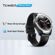 Ticwatch pro relógio inteligente masculino relógio usar os pelo google para ios & android nfc pagamento embutido gps à prova dwaterproof água bluetooth smartwatch