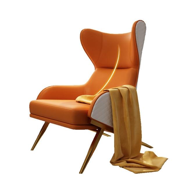 Leather Art Designer High Back Lounge Chair 5
