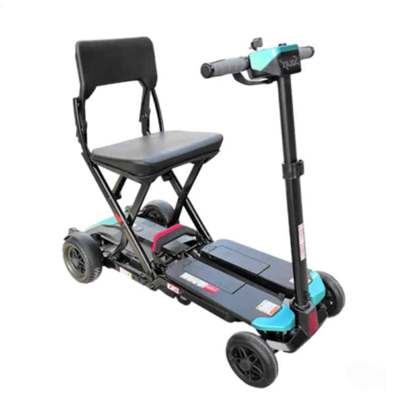 Portable Electric Scooter Four Wheels Electric Scooters One-Click Automatic Folding Electric Bike For Elderly/Disabled