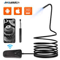 5.5mm 1080PHD Wifi Inspection Camera WiFi Borescope with 6 LED Lights Waterproof Endoscope for Android iOS Iphone Huawei