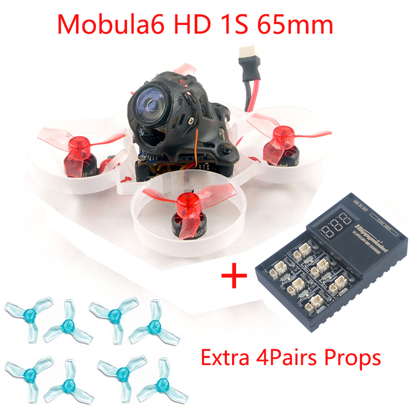Happymodel Mobula6 HD 1S 65mm Brushless Quadcopter BWhoop Mobula 6 HD FPV Race Drone BNF wi/ AIO <font><b>4IN1</b></font> Crazybee F4 Lite HD Camera image