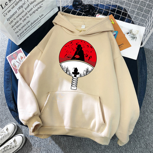 Hoodie For Women Manga Print Street Fashion Loose Tracksuits Anime Wear Vintage Crewneck Wears Pattern Fleece Hoody Female Tops 3