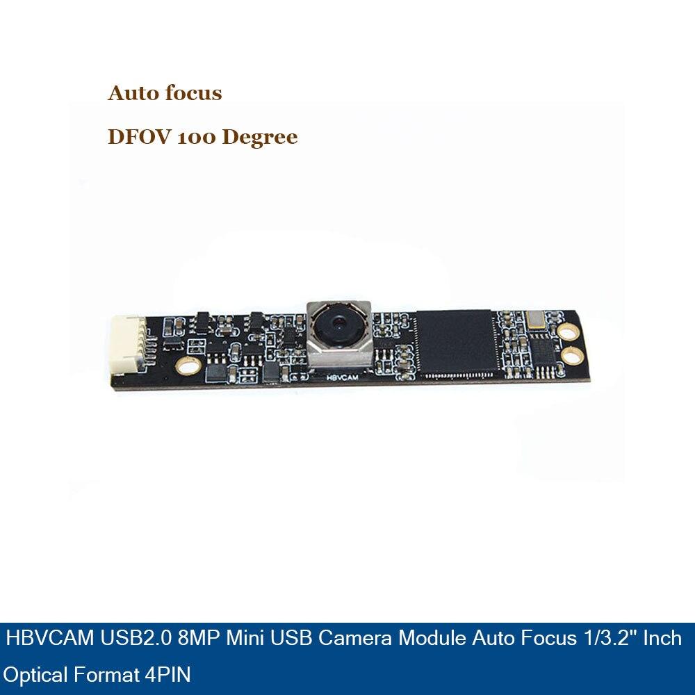 USB2 0 8MP Mini USB camera module Auto focus 1 3 2 inch optical format 4PIN