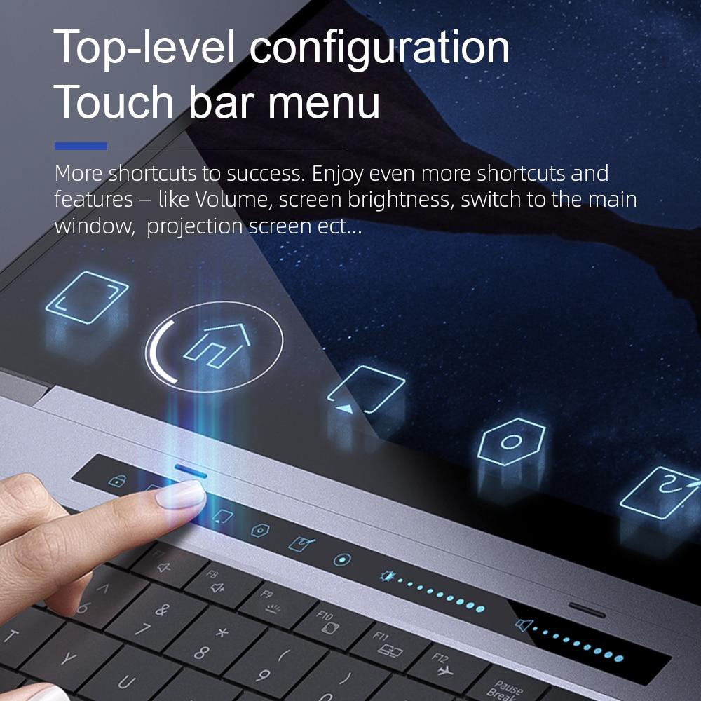 "Dere TBook T10 15.6"" Intel Core I7-1065G7 Touch Bar Laptop 16GB 512GB SSD Windows 10 FHD Backlit keyboard 2.4G+5G Wifi Laptops-2"