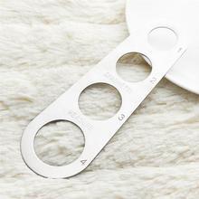 3 шт. лапша измерительная линейка из нержавеющей стали, для спагетти массового измерения Лапша инструмент