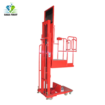 Manually Moving Battery Power Lifting Goods Cargo Order Picker