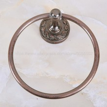 Bathroom Towel holder, Wall-Mounted Round Antique Copper Ring ,Towel Rack Classic Accessories zba156