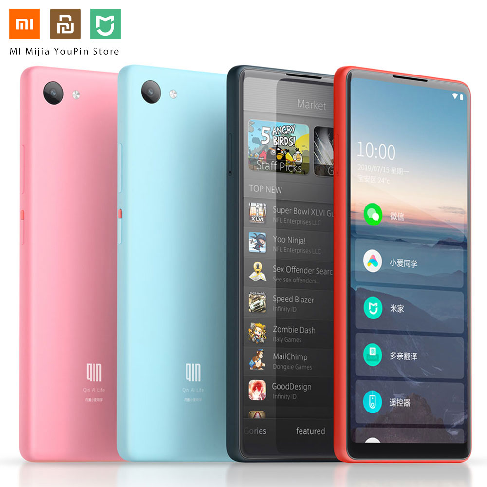 Xiaomi QIN Full Screen Phon E 4G Network With Wifi 5.05 Inch 2100mAh Andriod 9.0 SC9832E Quad Core Feature WIFI AI Translator