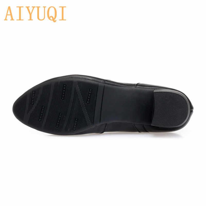 AIYUQI kadın ayakkabı kadın ayakkabıları 2020 sonbahar yeni hakiki deri bayan ayakkabıları bayan resmi giysi kadın ofis ayakkabı
