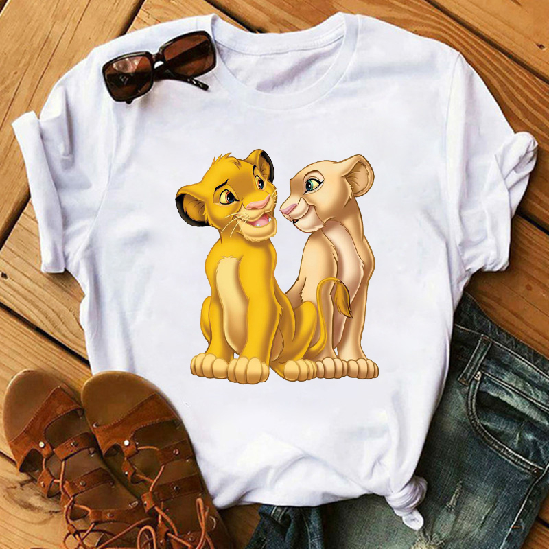 ERNESTNM Summer New Women T-shirt Cartoon Printed Ladies T Shirt Fashion Casual Harajuku Tshirt Female Graphic Cute Women Tops