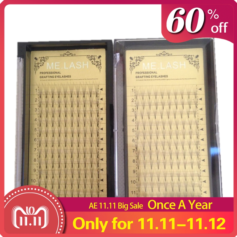 4 Trays/lot Russian Volume Premade Fans 5D Individual Clouds Eyelashe Extensions 0.07 C Curl False Mink Eye Lashes